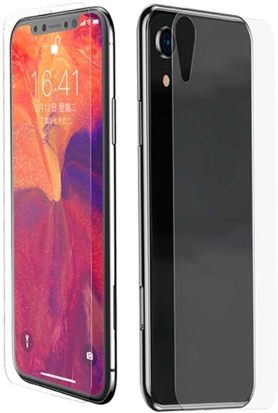new style 8aa8f 0dc1b Baseus Full Cover Front and Back Tempered Glass voor de Apple iPhone Xr -  transparant
