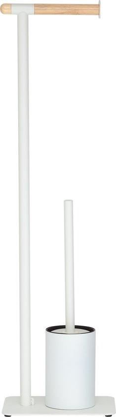 Sealskin Brix Toiletbutler 2-in-1 - Metaal - Wit