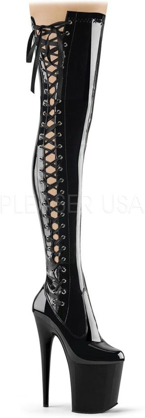 Pleaser Flamingo 3050 hoge overknee laars met stiletto hak