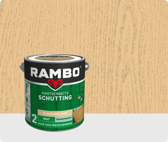Rambo Schutting pantserbeits mat transparant kleurloos 0000 2,5 l