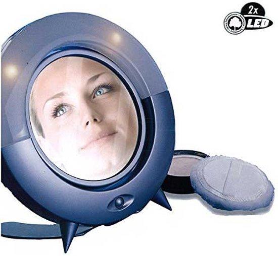 Vergrotende led make up spiegel met licht for Vergrotende spiegel