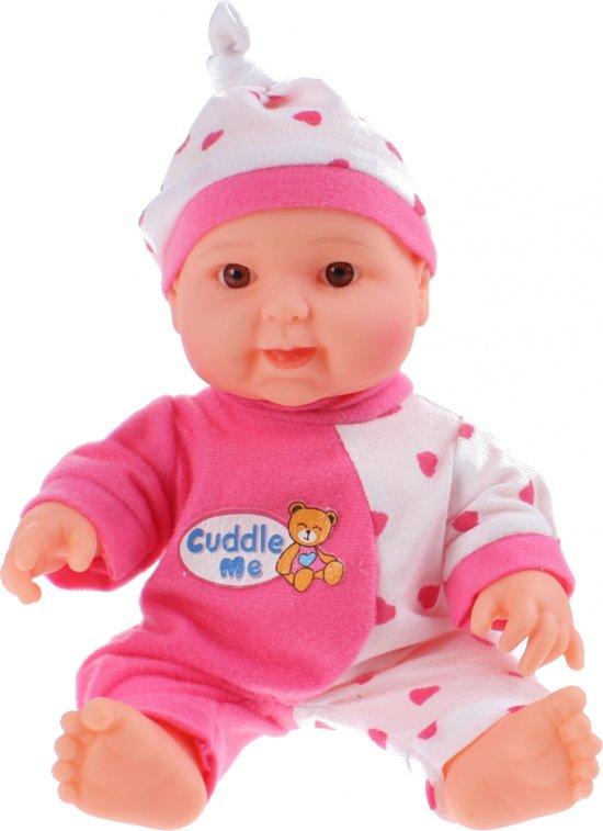 Toi-toys Babypop Baby Cute Cuddle Me 22 Cm Roze