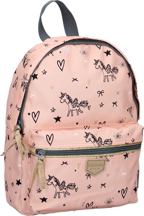87f8c90fa4e Kidzroom - rugzak Fearless - unicorn - eenhoorn - pastel pink - roze -  31x23x9xcm