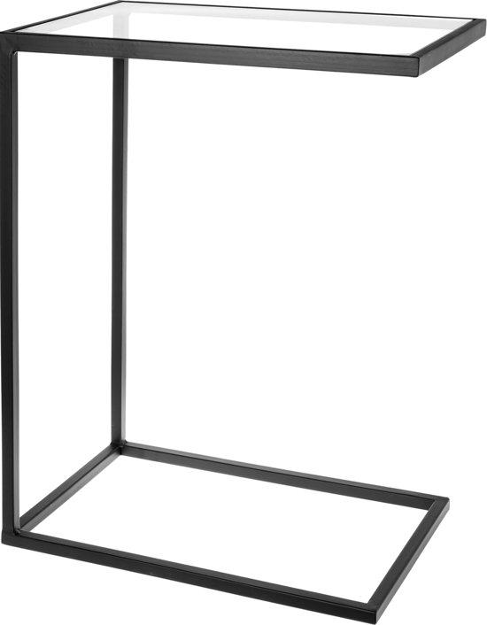 RIVERDALE - Banktafel Elano zwart 61cm