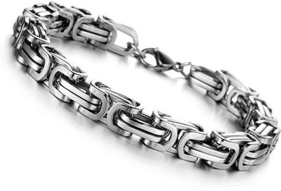bol   zware stalen konings armband - heren armband - edelstaal