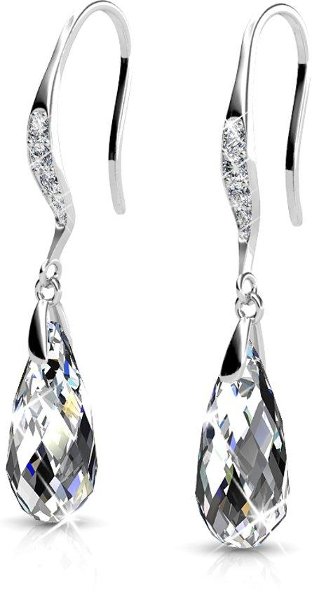 Yolora oorbellen - Swarovski kristal - Zilverkleurig - Dames - Set oorbellen - Crystal Drop