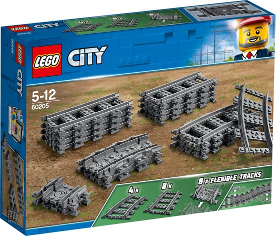 Afbeelding van LEGO City Rechte en Gebogen Rails - 60205 speelgoed