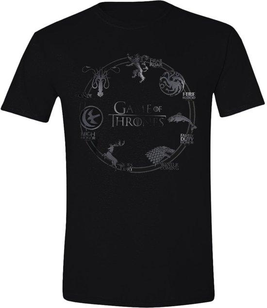 Game of Thrones - Round Sigil Mannen T-shirt - Zwart - M