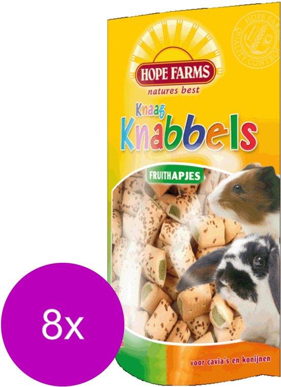 Hope Farms Knaagknabbels Fruithapjes - Knaagdiersnack - 8 x Fruit 100 g