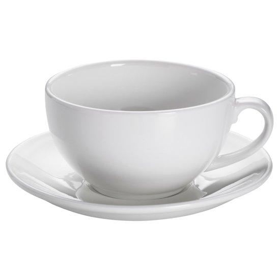 Maxwell & Williams White Basics Cappuccino Kop en Schotel - 310 ml