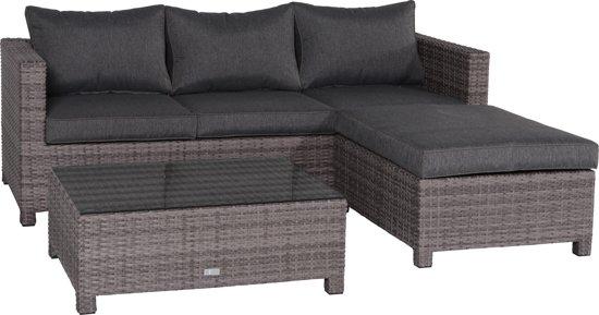 Garden Impressions - Rudesheim loungeset met chaise longue - organic grey