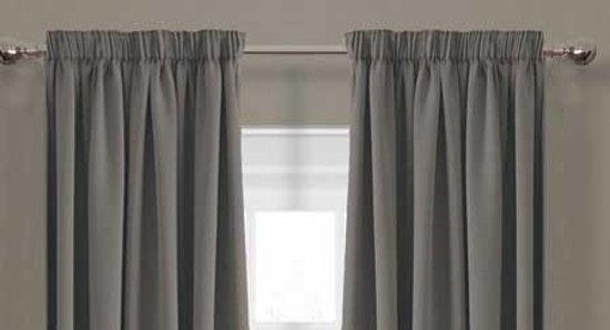 bol.com | Luxe verduisterende gordijnen - 150x250 cm - haken – grijs