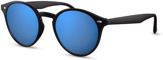 Cheapass Zonnebrillen  goedkope ronde zonnebril met groene spiegelglazen 8fc50f9af954