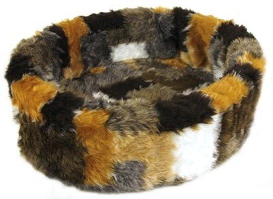 Petcomfort Hondenmand/Kattenmand Lapjesdeken - 56x50x15 cm - Beige/Bruin