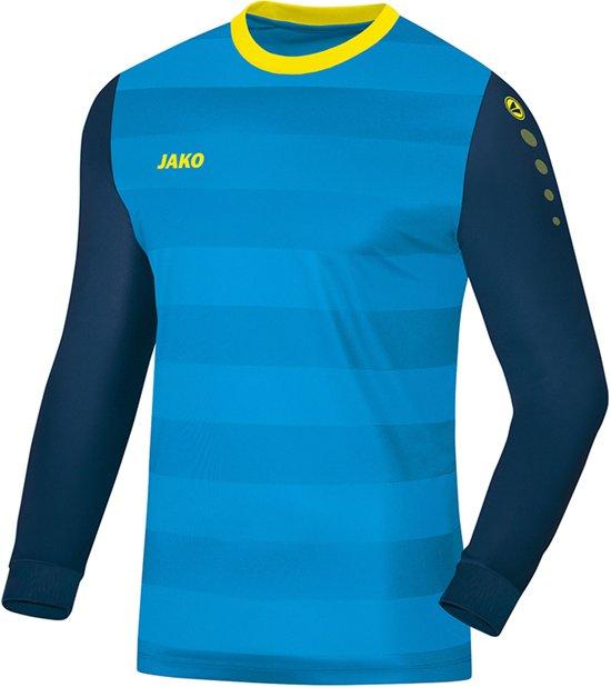 Jako GK Leeds  Sportshirt performance - Maat 152  - Unisex - blauw/navy/geel