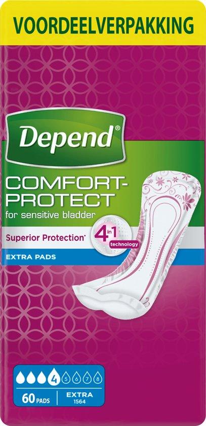Depend Extra Verband voor incontinentie en urineverlies - Voordeelbox 60 stuks