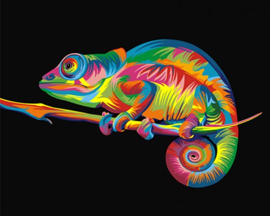 Artventura Regenboog Kameleon