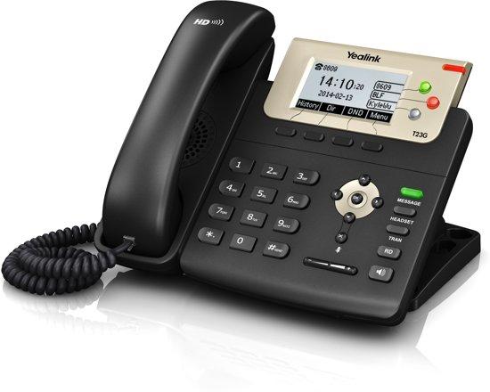 YEALINK T23G E2 VoIP Telefoon met 3 SIP-account en Gigabit switch; zwart