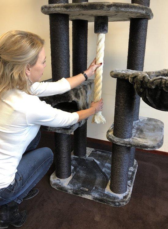 Krabpaal Catdream de Luxe Blackline Grijs voor grote katten