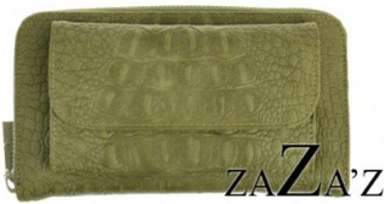 portemonnee croco groen