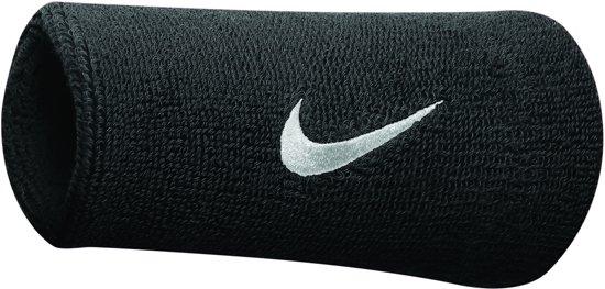 Nike Zweetbandjes - Wristband doublewide - Dri Fit - Unisex - Zwart/Wit