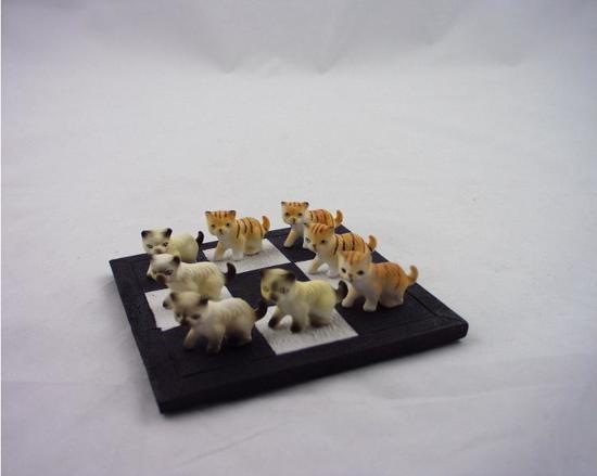 Afbeelding van het spel Boter, kaas en eieren - Katjes - Wit - bruin
