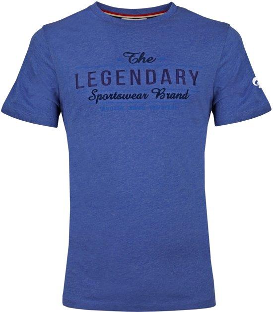 Heren T-shirt Texel  -  Hard Blauw
