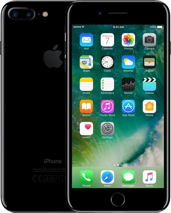 Apple iPhone 7 Plus - 128GB - Gitzwart