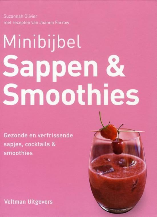 Boek cover Minibijbel - Sappen en smoothies van Suzannah Olivier (Hardcover)
