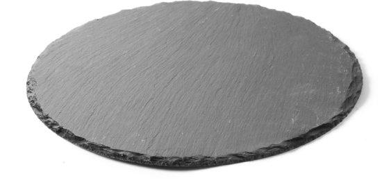 Leisteen plateau rond, 30 cm (2 stuks)