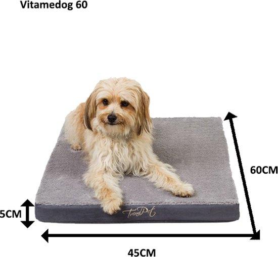 Trendpet Hondenkussen VitaMeDog - 60 x 45 cm - Grijs