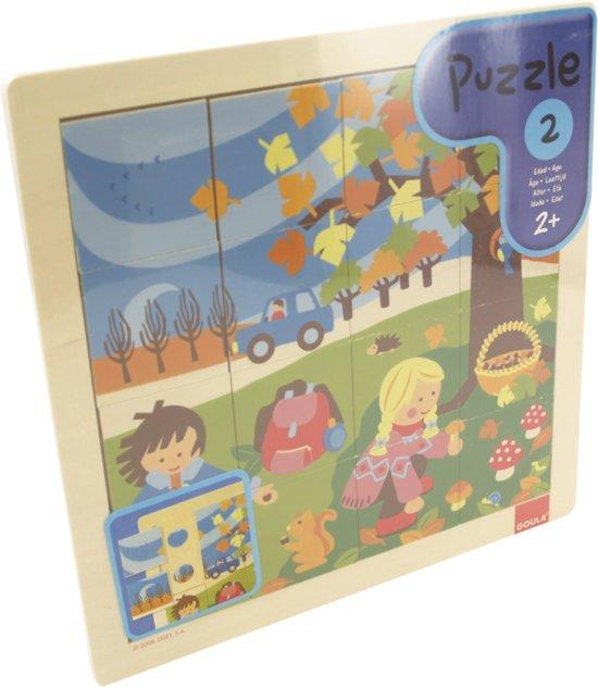 Goula Herfstpuzzel - Puzzel 16 stukjes