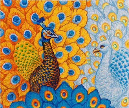 Needle Art Romantic Peacocks Diamond Painting 57x49 cm