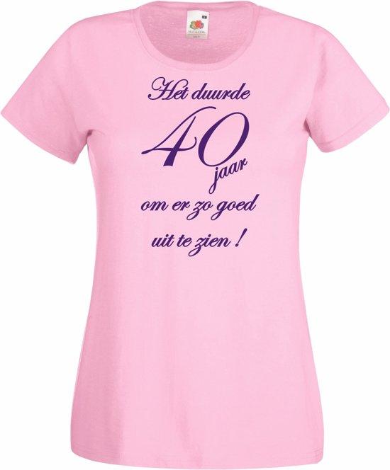 t shirt 40 jaar bol.| Mijncadeautje   Verjaardags T shirt   Dames   Het duurde  t shirt 40 jaar