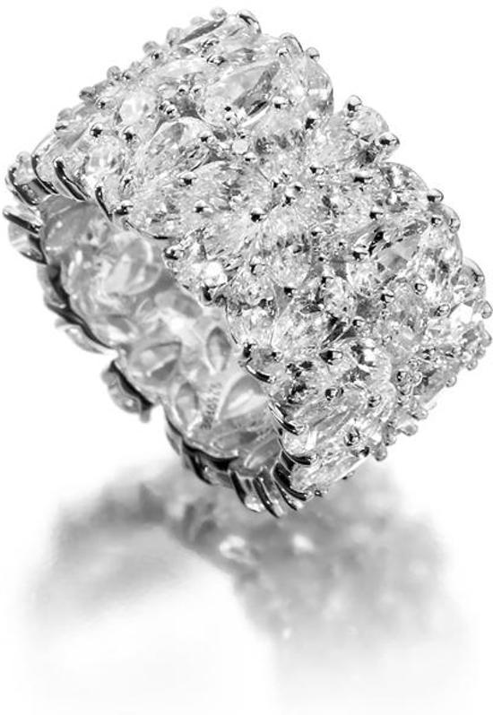 Diamonfire - Zilveren ring met steen Maat 17.0 - Ice Queen - 15 mm - Zirkonia