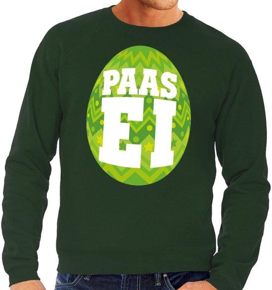 Groene Trui Heren.Bol Com Groene Paas Sweater Met Fel Groen Paasei Pasen Trui Voor