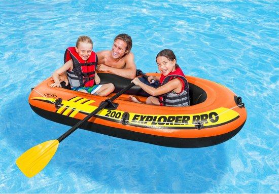 Intex Explorer Pro 200 Set - Opblaasboot - Mét peddels en pomp