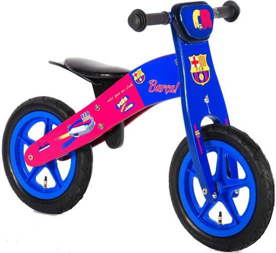 FC Barcelona Houten Loopfiets - Rood/Blauw - 12 inch