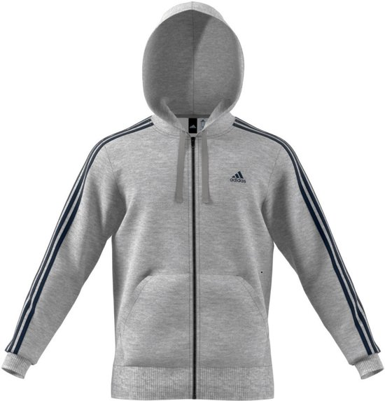 | adidas Essentials 3 Stripes Full Zip B Heren