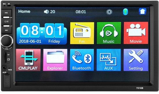 Dubbel Din autoradio met Bluetooth - Aux - Dubbel din - Handsfree - USB - Radio - Mirrorlink - 7 inch - Gratis USB