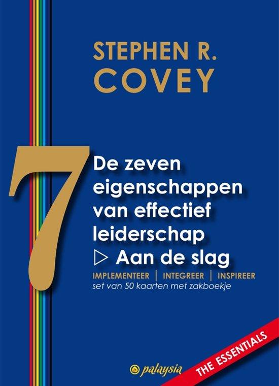 Boek cover De zeven eigenschappen van effectief leiderschap - Aan de slag van Stephen R. Covey (Onbekend)