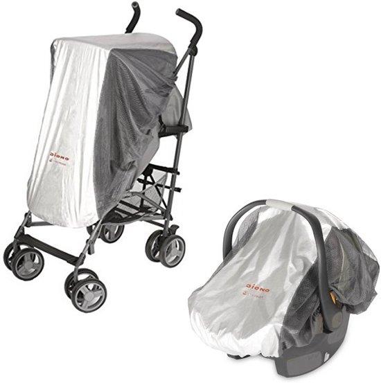 Diono Sun & Insect Net - Insectennet met UPF 50+ Sunblock - Klamboe - Muggennet voor buggy, kinderwagen, autostoeltje en reiswieg