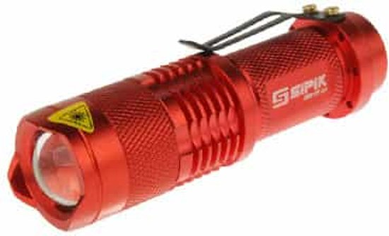 Zaklamp Rood Licht : Bol sk mini focus zaklamp modus cree q led wit licht