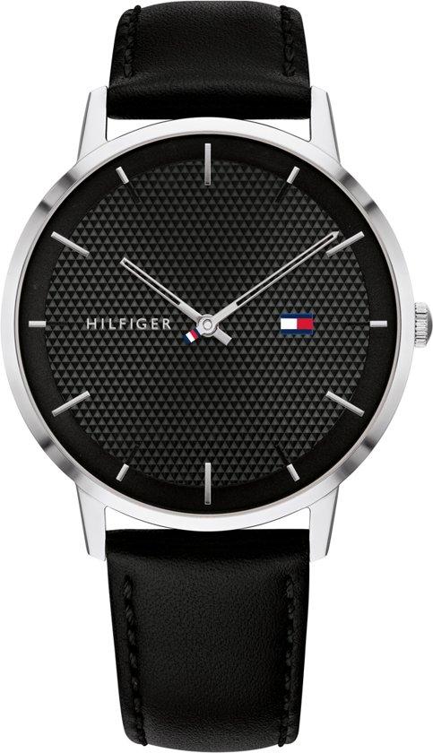 Tommy Hilfiger TH1791651 Horloge  - Leer - Zwart - Ø  40 mm