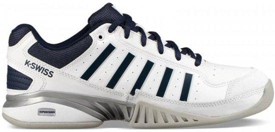 K-Swiss Receiver IV Carpet Tennisschoen Heren Sportschoenen - Maat 44 - Mannen - wit/blauw