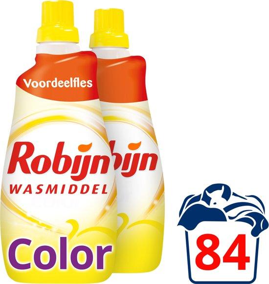 Robijn Zwitsal Geur Klein & Krachtig Vloeibaar - 84 wasbeurten - 2 x 1,47 l - Wasmiddel - Voordeelverpakking