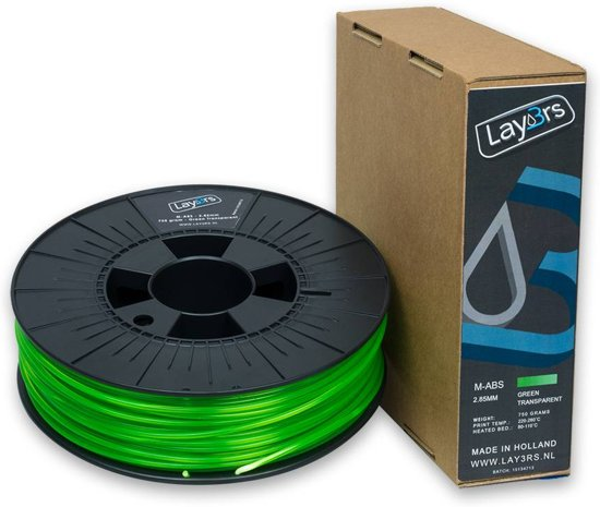 Lay3rs M-ABS Green Transparant - 1.75 mm