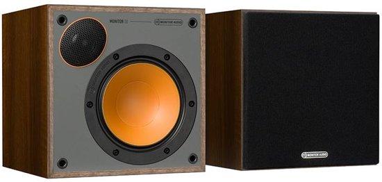 monitor audio monitor 50 walnoot boekenplank luidspreker per paar