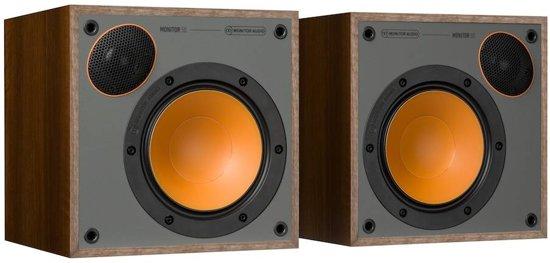 FonQ Monitor 50 - Walnoot - Boekenplank Luidspreker ( Per Paar )