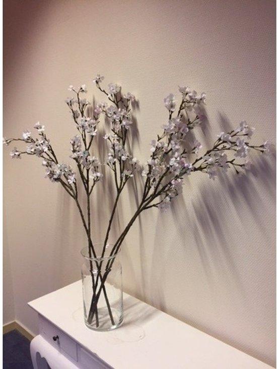 bol.com | Vaas met 5 witte appelbloesem kunstbloemen takken 104 cm